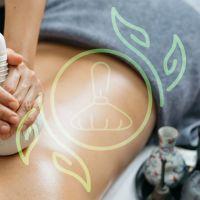 Thailändische Kräuterstempel Massage